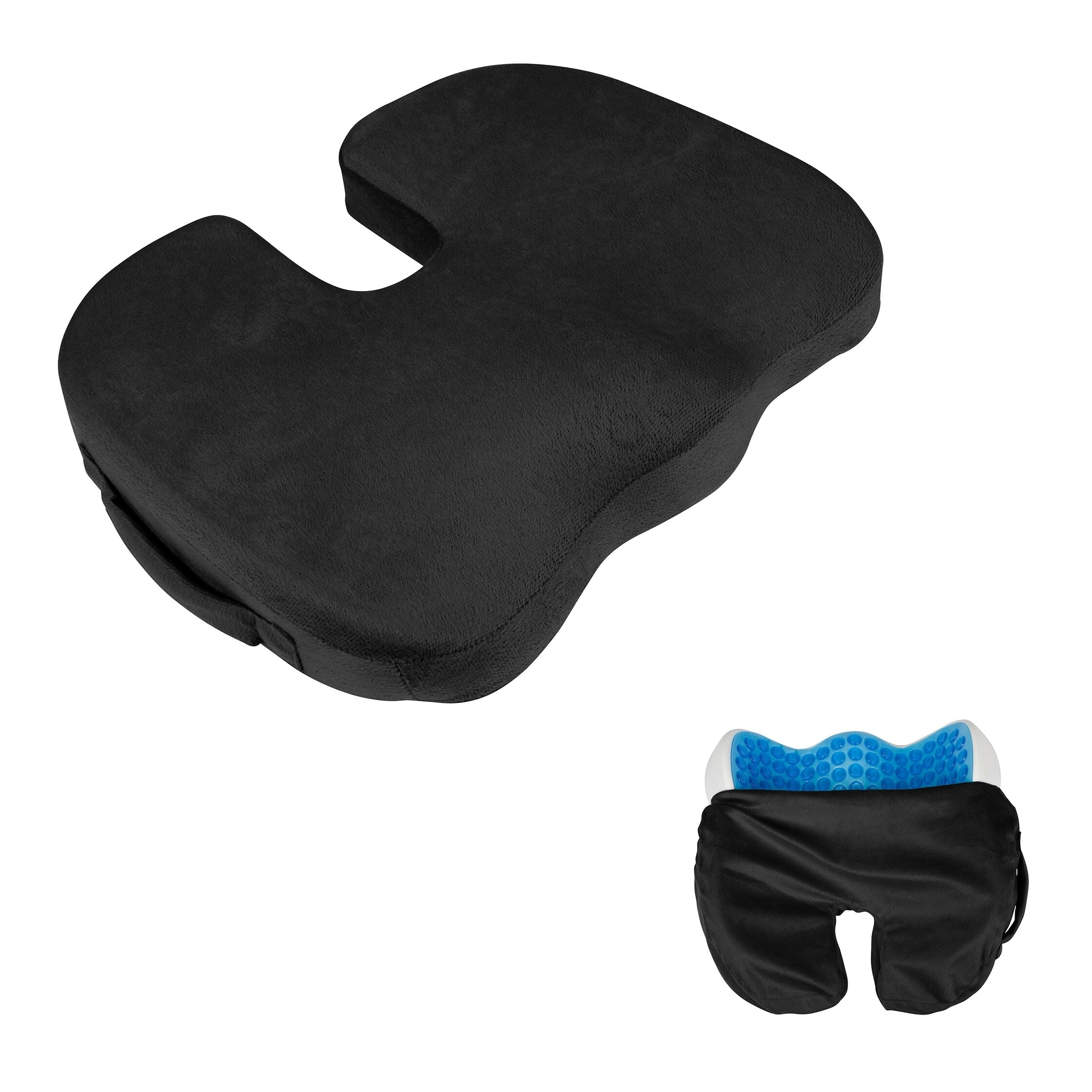 """Comfort Products 18"""" Memory Foam Seat Cushion for Coccyx ..."""