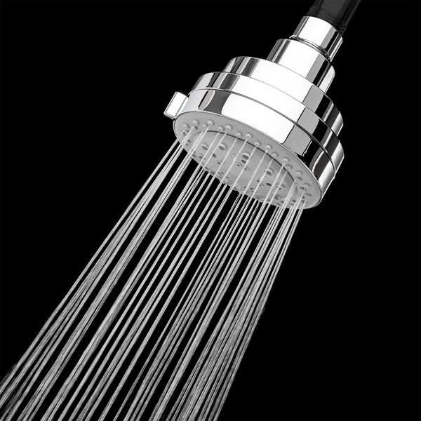 AKDY SH0028 3.5'' Contemporary Shower Head W/ 5 Setting Multi-Function Jet Spray Chrome