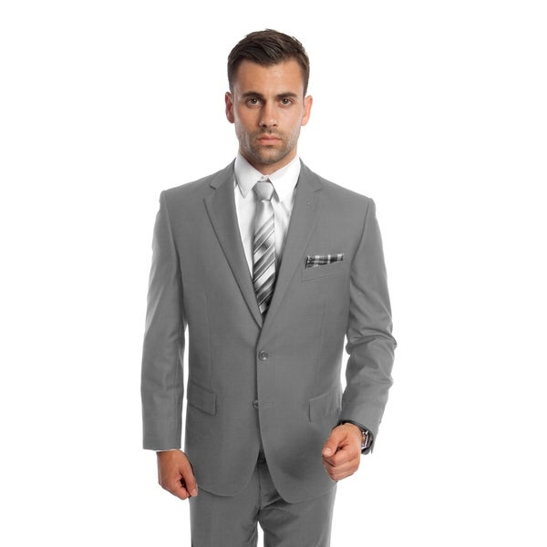 Men's Suit Set 2 Piece Set Notch Lapel Suit Set