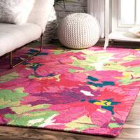 The Curated Nomad Crestmont Floral Handmade Persian Area Rug - 5' x 8'