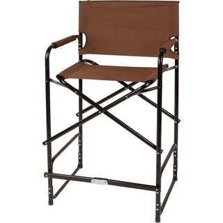 "43"" Steel Folding Tall Director's Chair - By Trademark Innovations (Brown)"