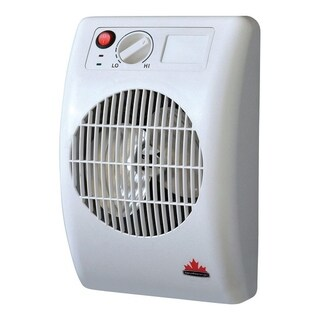 Seabreeze Off the Wall Electric Heater Thermostat Gray