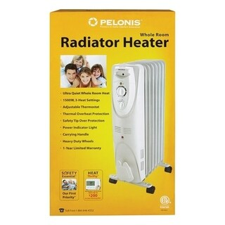 Pelonis 600/900/1500 watts Electric Oil-Filled Radiant Heater