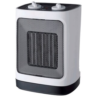 Pelonis Electric Ceramic Heater and Fan Thermostat White