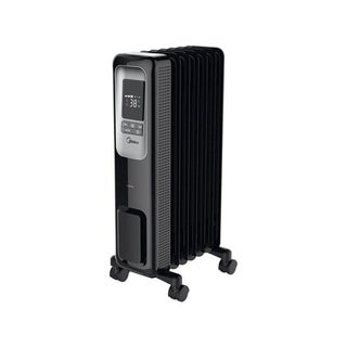 Pelonis Electric Oil-Filled Radiant Thermostat Heater With Remote Control Black