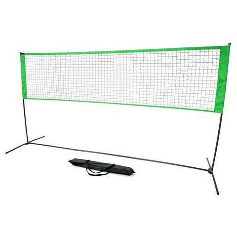 2- In -1 Volleyball and Tennis Net - Sturdy Knotless Mesh with Carrying Case by Trademark Innovations (Green)