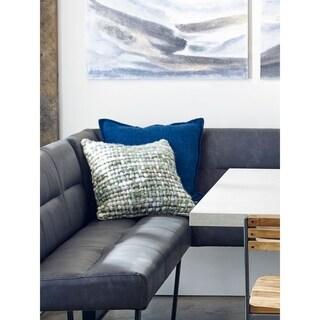 Aurelle Home Modern 20x20 Linen Feather Cushion