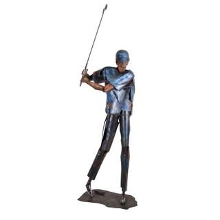Aurelle Home Golfer Iron Statue