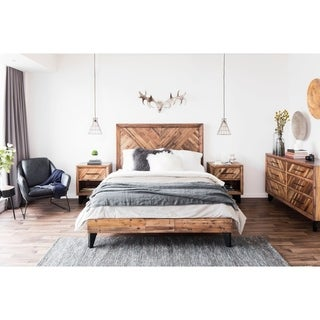 Aurelle Home Wales Rustic Farmhouse California King Bed