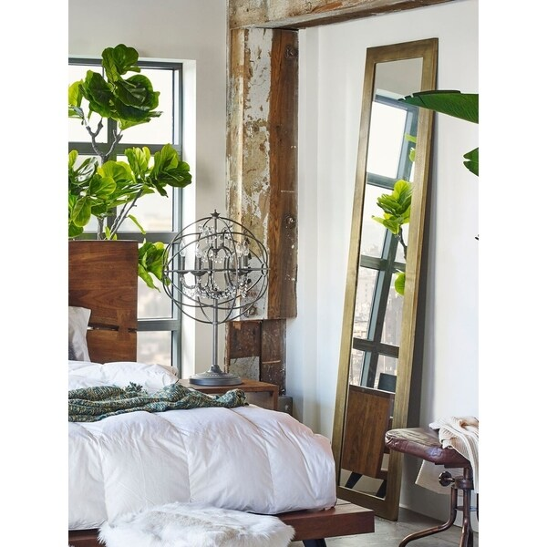 Aurelle Home Tall and Slender Metal Frame Mirror - Clear. Opens flyout.