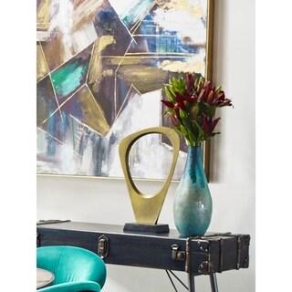 Aurelle Home Chiseled Surface Modern Glass Vase