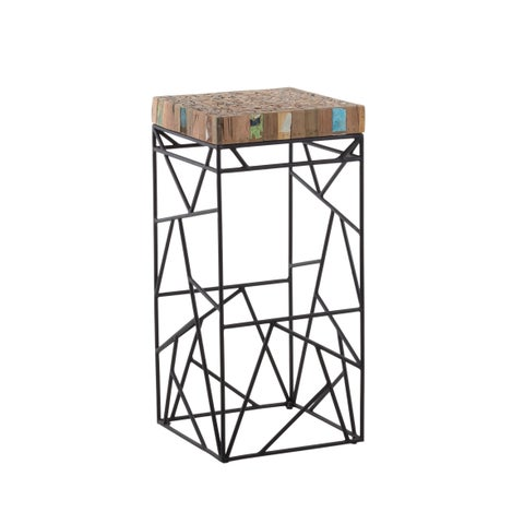 Aurelle Home Modern Reclaimed Wood Bar stool