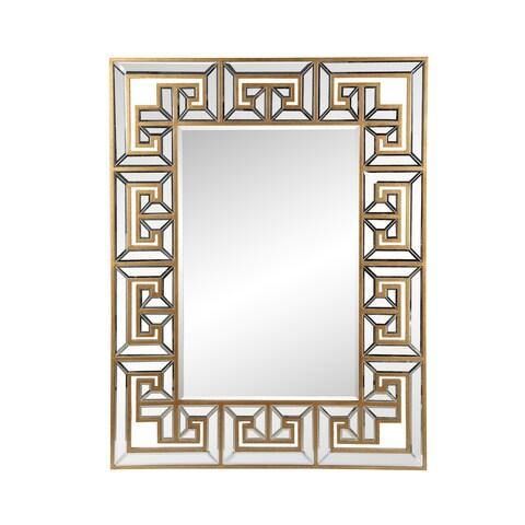Aurelle Home Classic Framed Gold Mirror - Clear - N/A