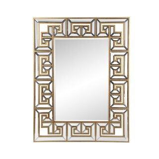Aurelle Home Classic Framed Gold Mirror - Clear