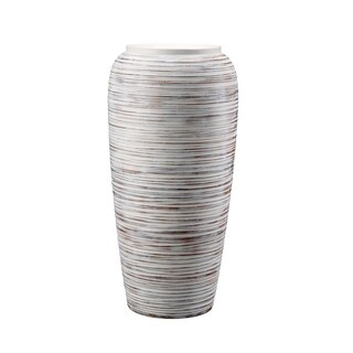Modern Fiberglass with Clay-look Large Vase