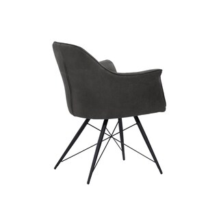 Modern Thin-profile Grey Upholstered Dining Chair