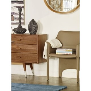 Aurelle Home Modern Grey Eco-Leather Dining Chair