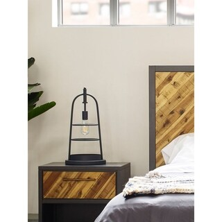 Aurelle Home Industrial Farmhouse Table Lamp