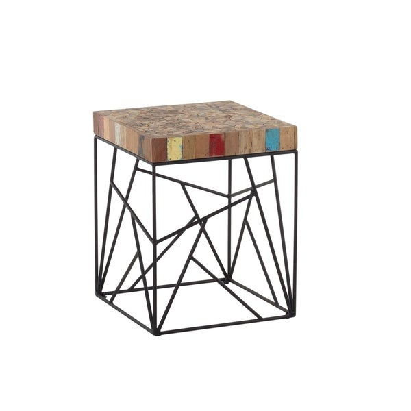 Aurelle Home Reclaimed Wood Side Table