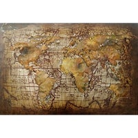 Shop alan rodriguez old world map large rustic world map metal aurelle home vintage world map wall decor gumiabroncs Gallery