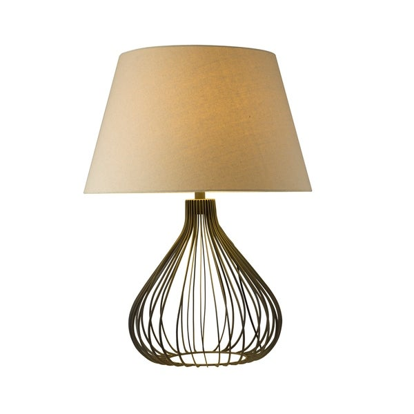 Aurelle Home Contemporary Modern Metal Table Lamp