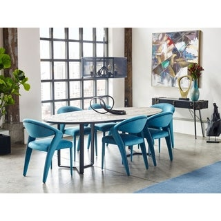Glam-style Contemporary Modern Upholstered Dining Chairs (Set of 2)