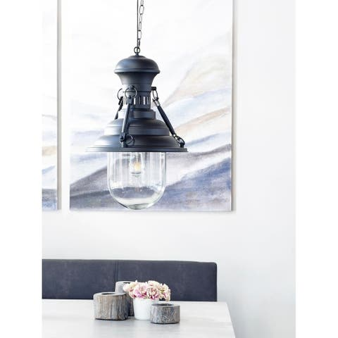 Aurelle Home Industrial Farmhouse Pendant Lamp