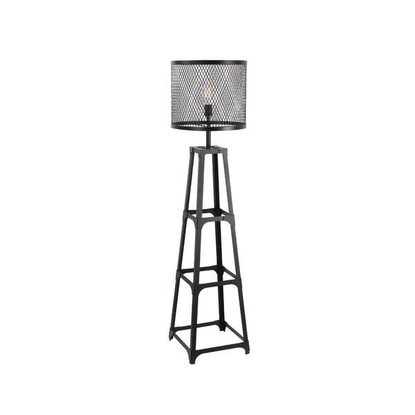 Aurelle Home Industrial Metal Floor Lamp