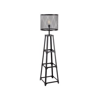 Aurelle Home Industrial Metal Floor Lamp