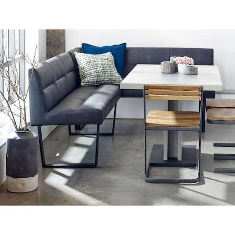 Aurelle Home Modern Eco-Leather Kitchen Corner Bench