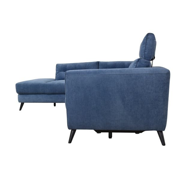 Groovy Shop Aurelle Home Motion Left Navy Blue Sectional Sofa Gamerscity Chair Design For Home Gamerscityorg