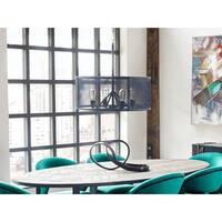 Aurelle Home  Industrial Round Pendant Lamp