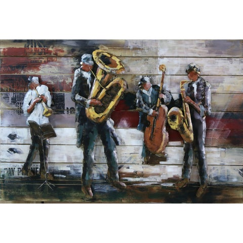 Jazz Quartet Metal and Wood Wall Decor