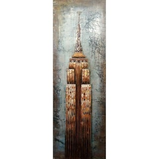 Art-deco Empire Building Metal and Acrylic Wall Decor