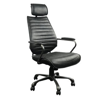 Aurelle Home Modern Leather Fully Adjustable Office Chair