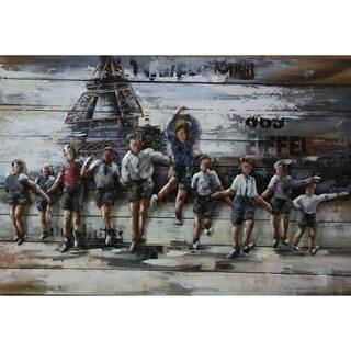 Paris Eiffel Tower Metal and Wood Wall Decor
