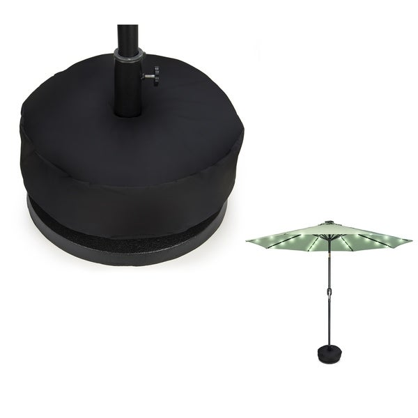 18 Patio Umbrella Sand Base Weight Bag Round By Trademark Innovations