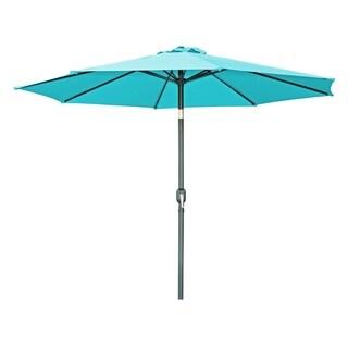 Tilt Crank Patio Umbrella - 7' - by Trademark Innovations (Peacock)