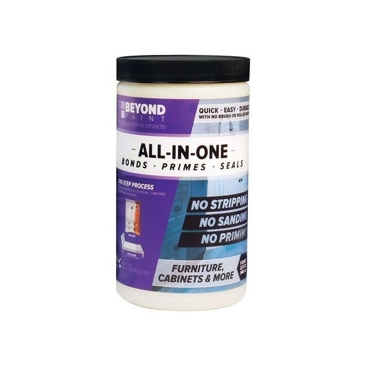 BEYOND PAINT  All-In-One  Interior/Exterior  Acrylic  Paint  Off White  Flat  1 qt. Water Base
