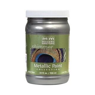 Modern Masters Shimmer Interior Metallic Paint Pewter Satin 1 qt.