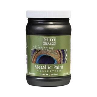 Modern Masters Shimmer Interior Metallic Paint Black Pearl Satin 1 qt.