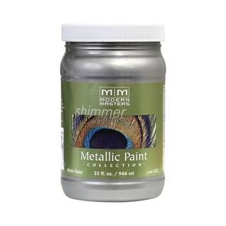 Modern Masters Shimmer Interior Metallic Paint Silver Satin 1 qt.
