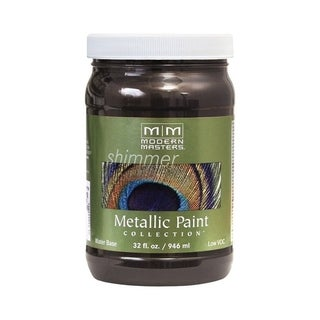 Modern Masters Shimmer Interior Metallic Paint English Brown Satin 1 qt.