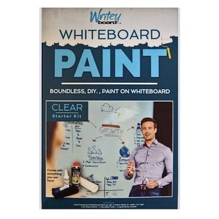 Writey Board Hi-Gloss Whiteboard Paint Low VOC Clear 17 oz.