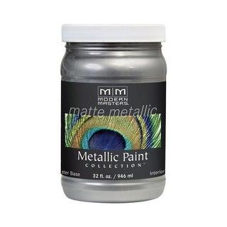 Modern Masters Interior Metallic Paint Platinum Matte 1 qt.