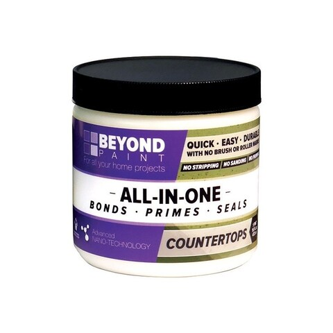 BEYOND PAINT All-In-One Interior/Exterior Acrylic Countertop Paint Ash Flat 1 pt. Water Base