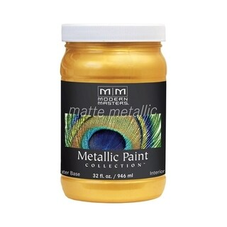 Modern Masters Interior Metallic Paint Gold Rush Matte 1 qt.