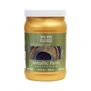 Modern Masters Shimmer Interior Metallic Paint Gold Rush Satin 1 qt.