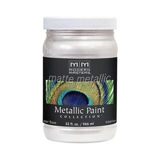 Modern Masters Interior Metallic Paint Oyster Matte 1 qt.