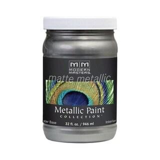 Modern Masters Interior Metallic Paint Pewter Matte 1 qt.